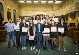 Vincent Boutin et le Conseil municipal jeunesse
