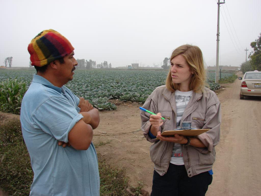 Une stagiaire professionnelle lors de son stage à l'étranger au Pérou